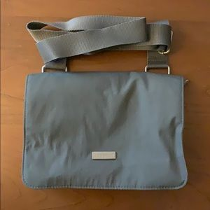 Baggallini nylon triple zipper crossbody bag